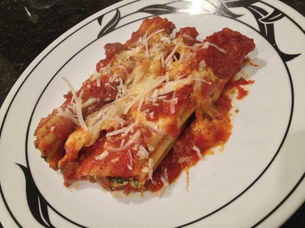 Spinach And Cheese Stuffed Manicotti Recipe - Food.com