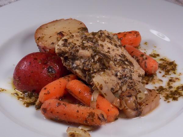 Crock Pot Pesto Ranch Chicken and Veggies #RSC. Photo by Lavender Lynn