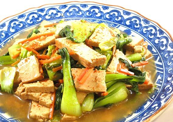 Baked Tofu and Bok Choy. Photo by InnerHarmonyNutrition