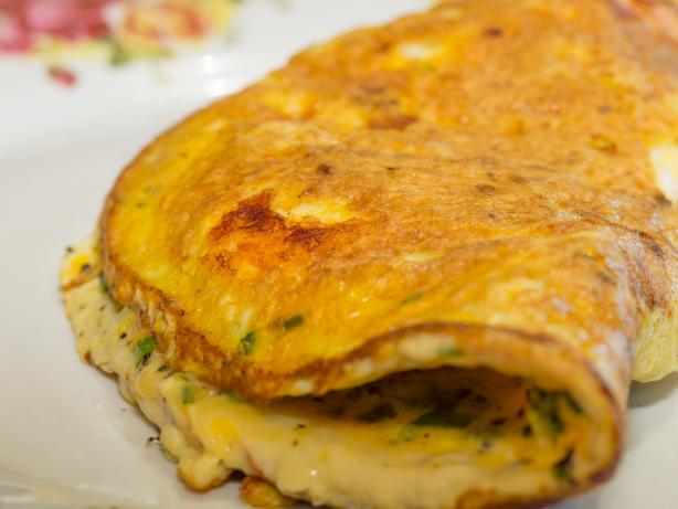 Prawn and Chive Omelette. Photo by Peter J