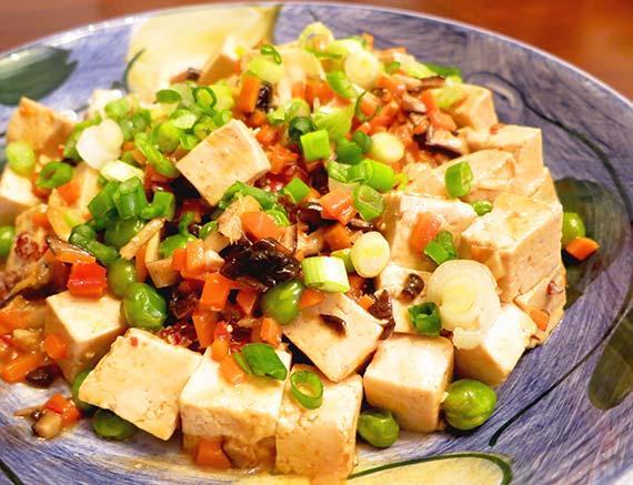 Vegetarian Mapo Tofu. Photo by InnerHarmonyNutrition