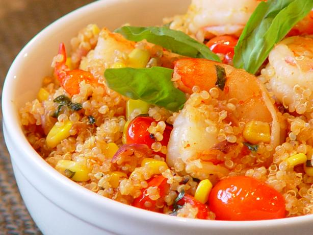 Quinoa And Shrimp With Fresh Corn And Cherry Tomatoes Recipe - Food ...