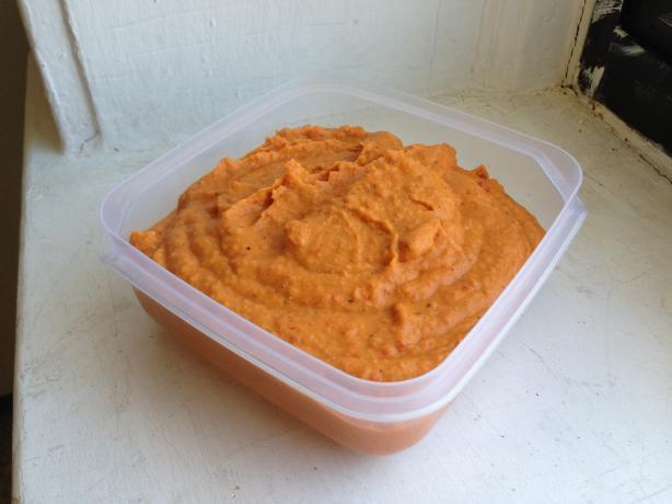 Roasted red pepper hummus tahini free recipe for Recipe for roasted red pepper hummus