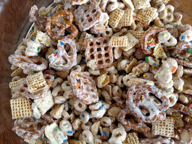 Holiday Chex Mix White Chocolate Recipe