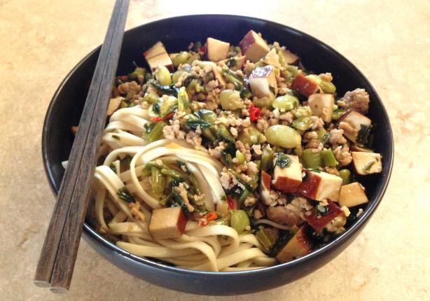 Stir-Fry Mustard Greens With Pork and Dry Tofu (See directions and all ...