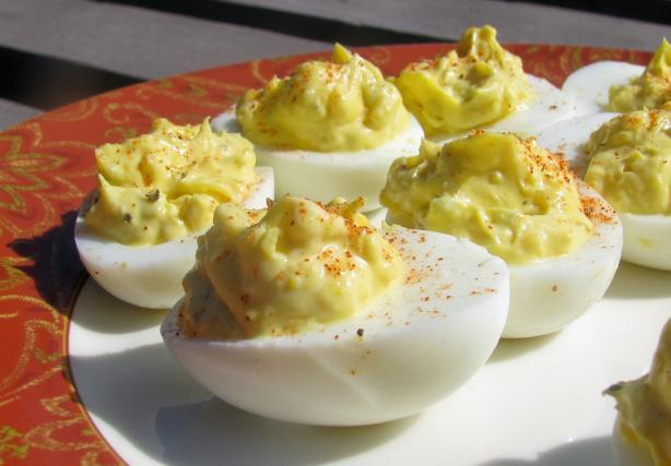 deviled eggs creamy deviled eggs recipe yummly creamy deviled eggs