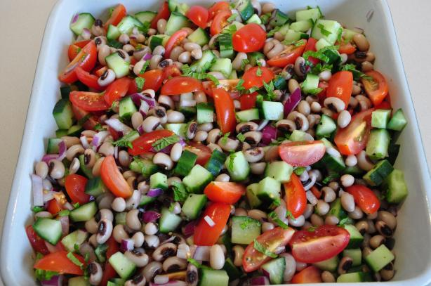 Deconstructed Gazpacho & Black Eyed Bean Salad. Photo by BonusMeals
