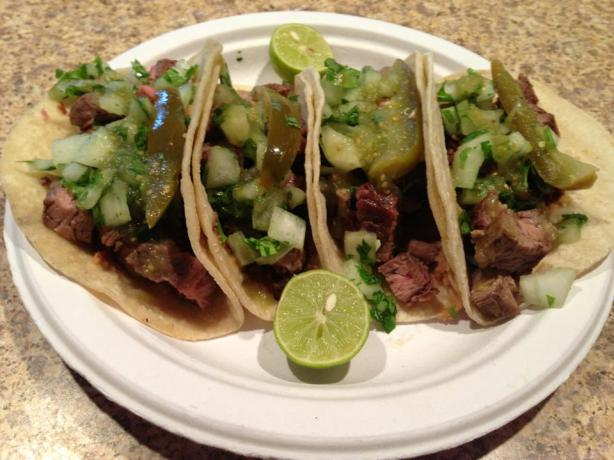 No Marinade Carne Asada Tacos. Photo by C. Lloyd