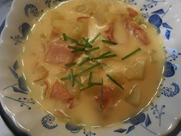 Delicious Ham and Potato Soup. Photo by pammyowl