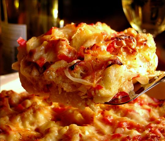 Caramelized Onion And Canadian Bacon Strata Recipe - Cheese.Food.com