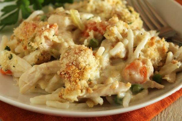 Creamy Turkey Tetrazzini. Photo by Delicious as it Looks