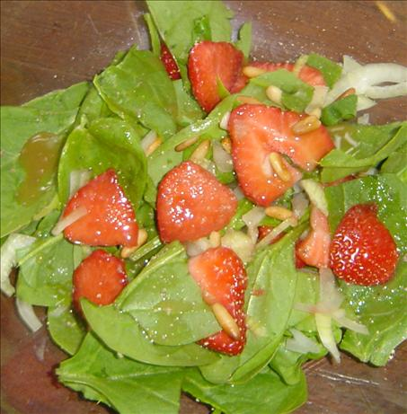 Spinach and Strawberry Salad with Honey Mustard Vinaigrette. Photo by ...