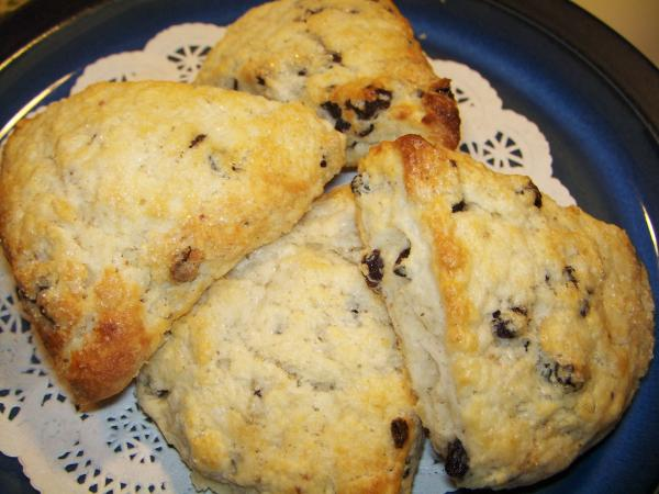 Currant Cream Scones. Photo by Elly in Canada