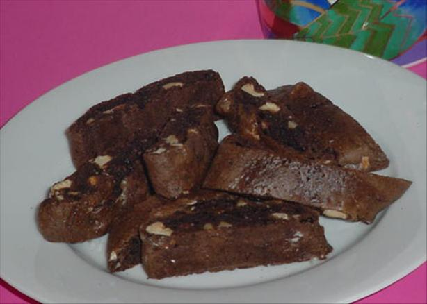 Chocolate Hazelnut Biscotti Recipe — Dishmaps