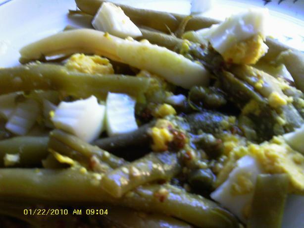 Green Bean Salad With Mustard-Caper Vinaigrette. Photo by Dienia B.