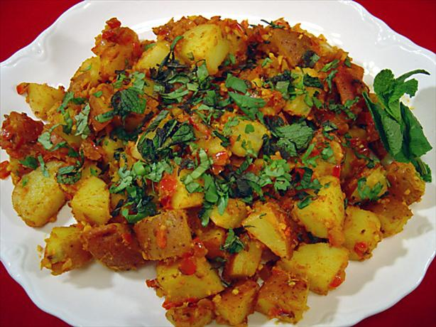 Indian-Style Potatoes - Khatta Aloo. Photo by Sue Lau