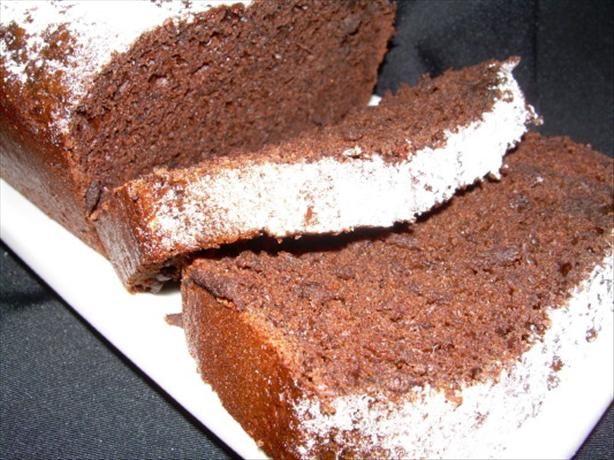 Luscious Low Fat Chocolate Pound Cake. Photo by Marlene.