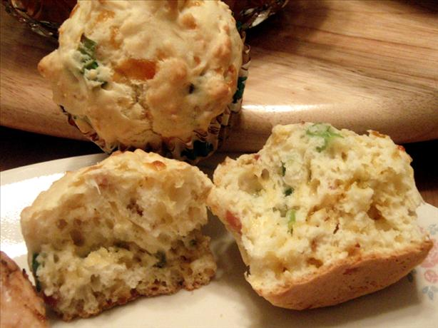 Savory Cheese Muffins With Bacon And Chives Recipe - Food.com