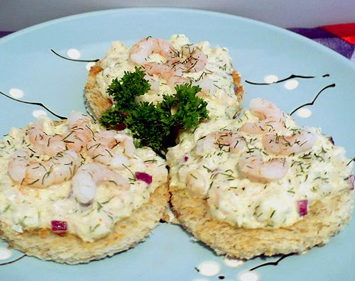 Shrimp and dill canapes recipe for Shrimp canape ideas