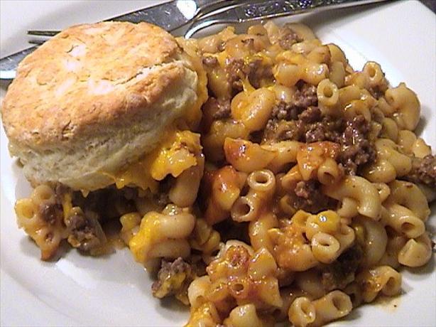 hamburger casserole recipe recipes food pasta macaroni meals hotdish lori mama corn bake beef cheeseburger ingredients biscuits burger hamburg cheese