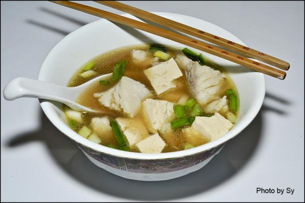 Spicy cod fish and tofu soup sauce by sy recipe for Fish soup cod