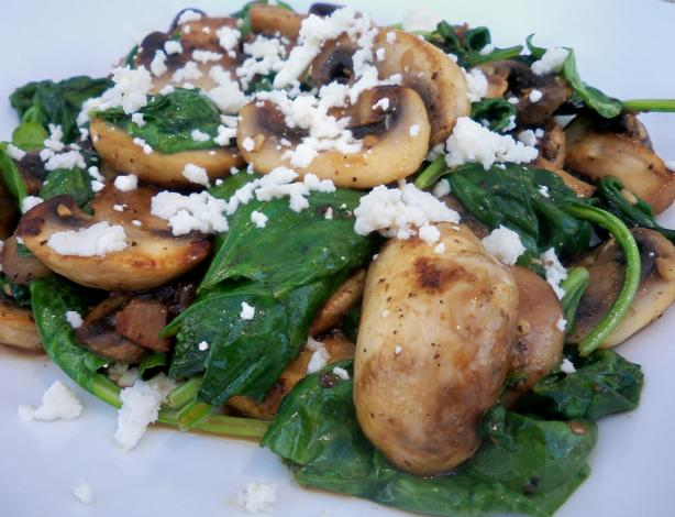 Sauteed Spinach With Mushrooms And Garlic Recipe - Food.com