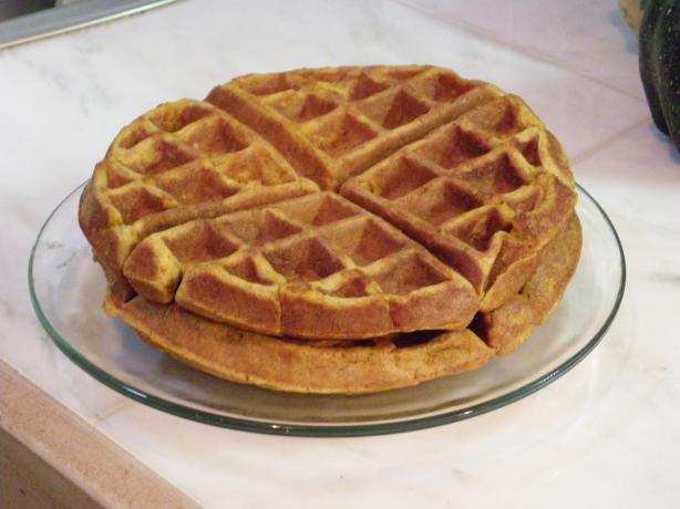 Spiced Pumpkin Waffles. Photo by cookingforU