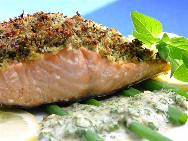 Baked Salmon With Lemon-Oregano Crumb Topping Recipe ...
