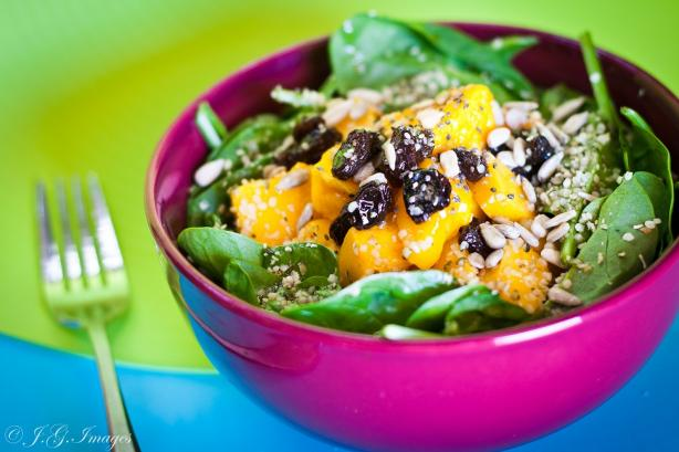 Fruited Spinach Salad With Honey Mustard Dressing. Photo by The ...
