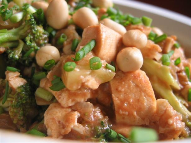 Broccoli And Tofu With Spicy Peanut Sauce Recipe - Healthy.Food.com