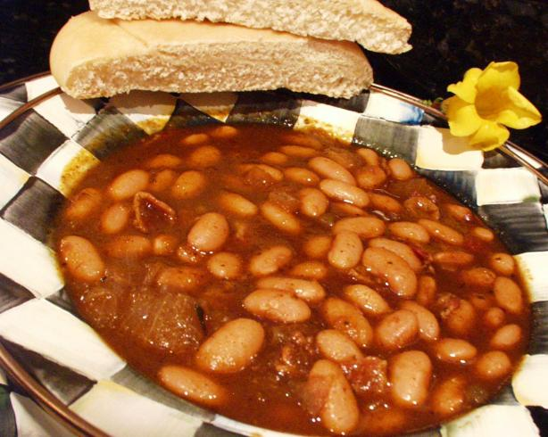 Smoky Baked Beans Originally Canary Baked Beans) Recipe - Mexican.Food ...