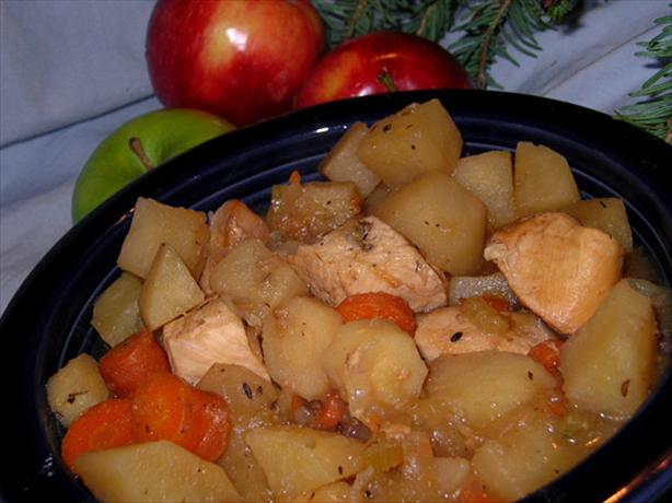 crock pot apple chicken stew low fat recipe