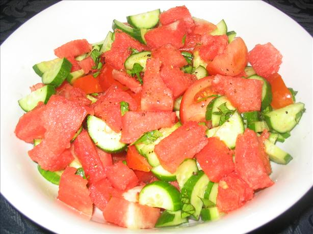 Watermelon, Cucumber And Tomato Salad Recipe - Food.com