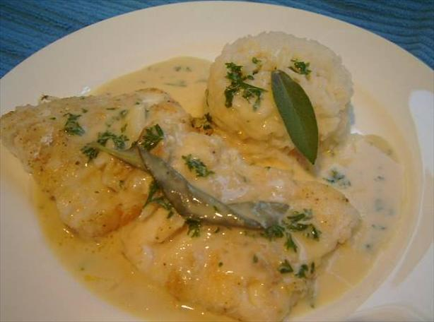 fish with sage and garlic sauce recipe