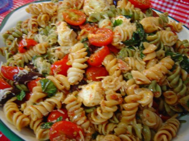 Sun-Dried Tomato And Fresh Mozzarella Pasta Salad Recipe - Food.com