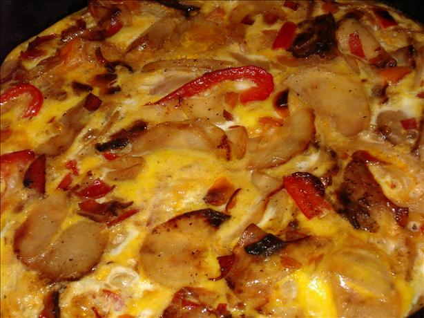 Potato And Red Pepper Frittata Recipe - Food.com