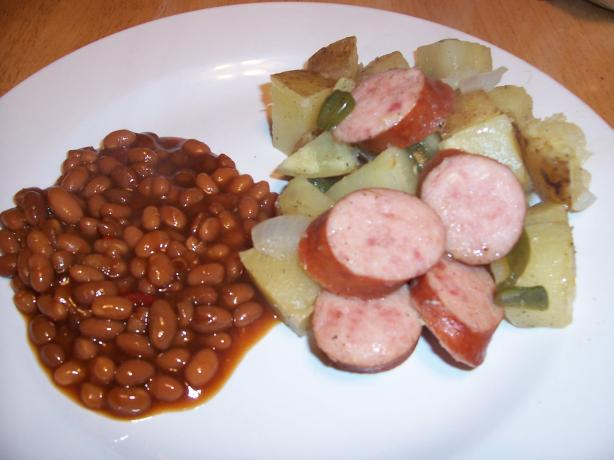Barbecue Grilled Kielbasa Dinner Packets. Photo by Chef Petunia
