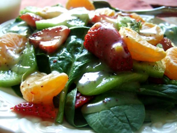 Spinach, Strawberry, Mandarin Salad With Poppy Seed ...