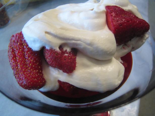 Strawberries Romanoff Taste Just Like La Madeleine -Copycat. Photo by ...