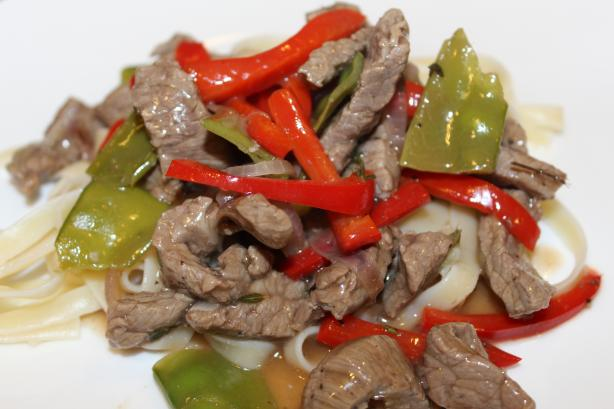 Garlicky Beef With Peppers. Photo by Leggy Peggy