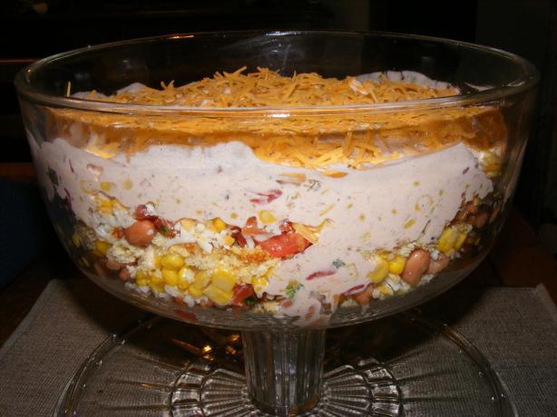 Tex Mex Layered Salad Recipe — Dishmaps