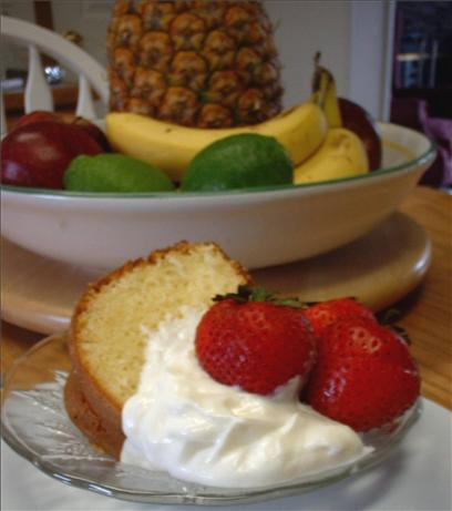 Lemon Almond Sour Cream Pound Cake. Photo by Donna Luckadoo