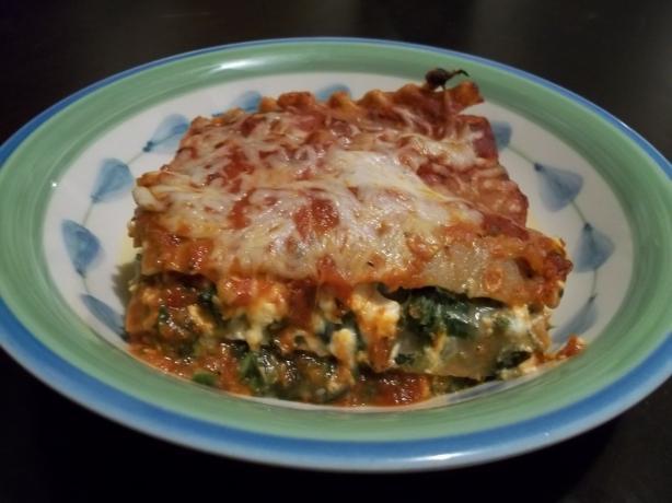 Portabella Mushroom With Spinach and Feta Lasagna (Vegetarian). Photo ...
