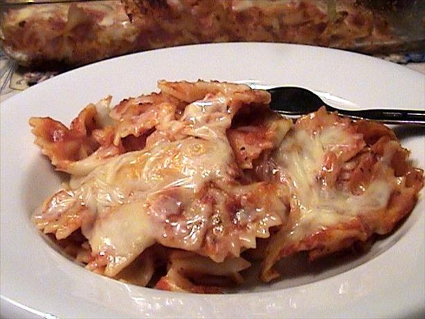 Baked Three-Cheese Bow-Tie Pasta Recipes — Dishmaps