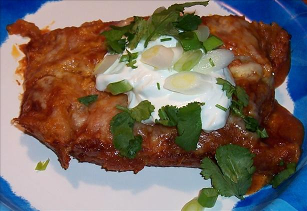 Oven-Baked Turkey-Spinach Enchiladas Extraordinaire (See directions ...