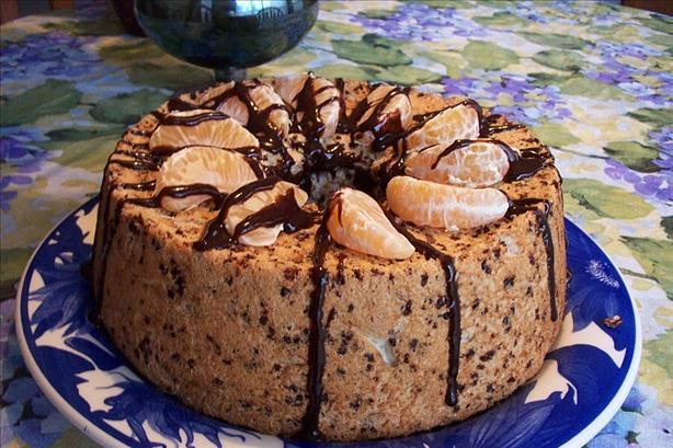 Paul Newmans Chocolate - Orange Angel Food Cake Recipe - Food.com