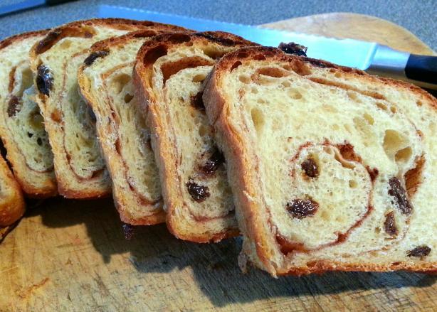 World's Best Cinnamon Raisin Bread (Not Bread Machine). Photo by JoKopelli