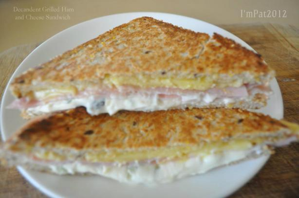 Decadent Grilled Ham And Cheese Sandwich Recipe - Food.com