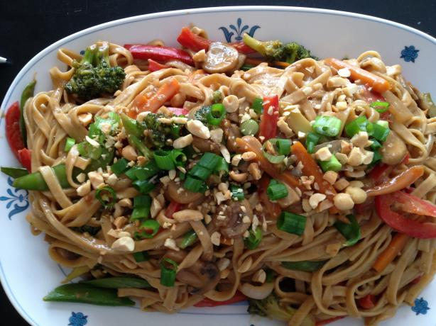 Thai Noodles With Spicy Peanut Sauce Recipe - Food.com