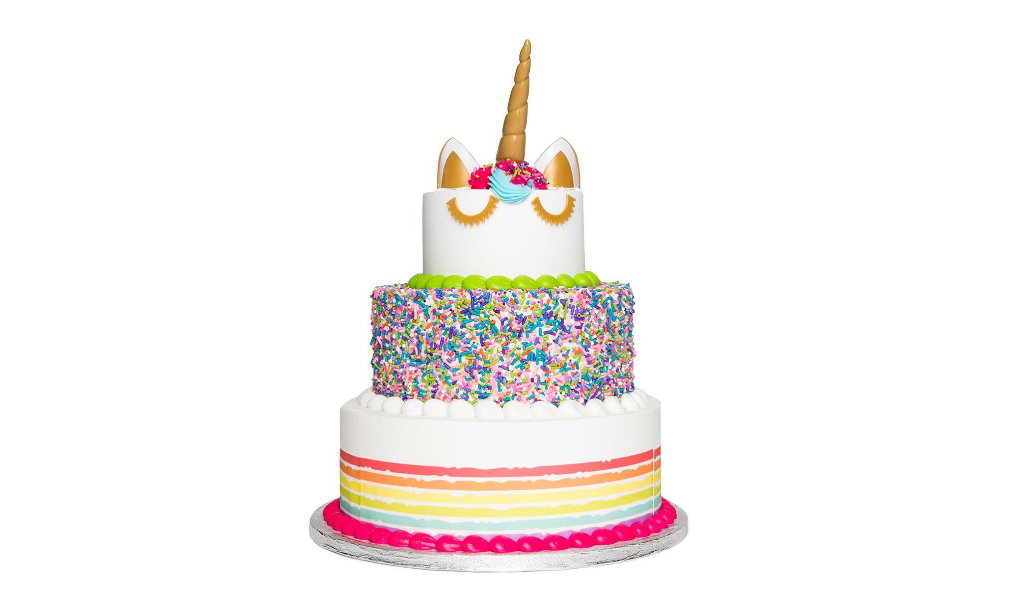Sam S Club Stacks A Rainbow Cake For National Unicorn Day Gk
